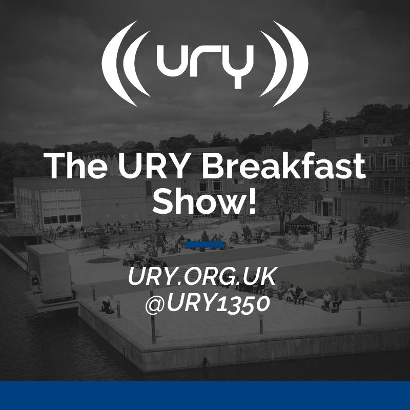 The URY Breakfast Show! logo.