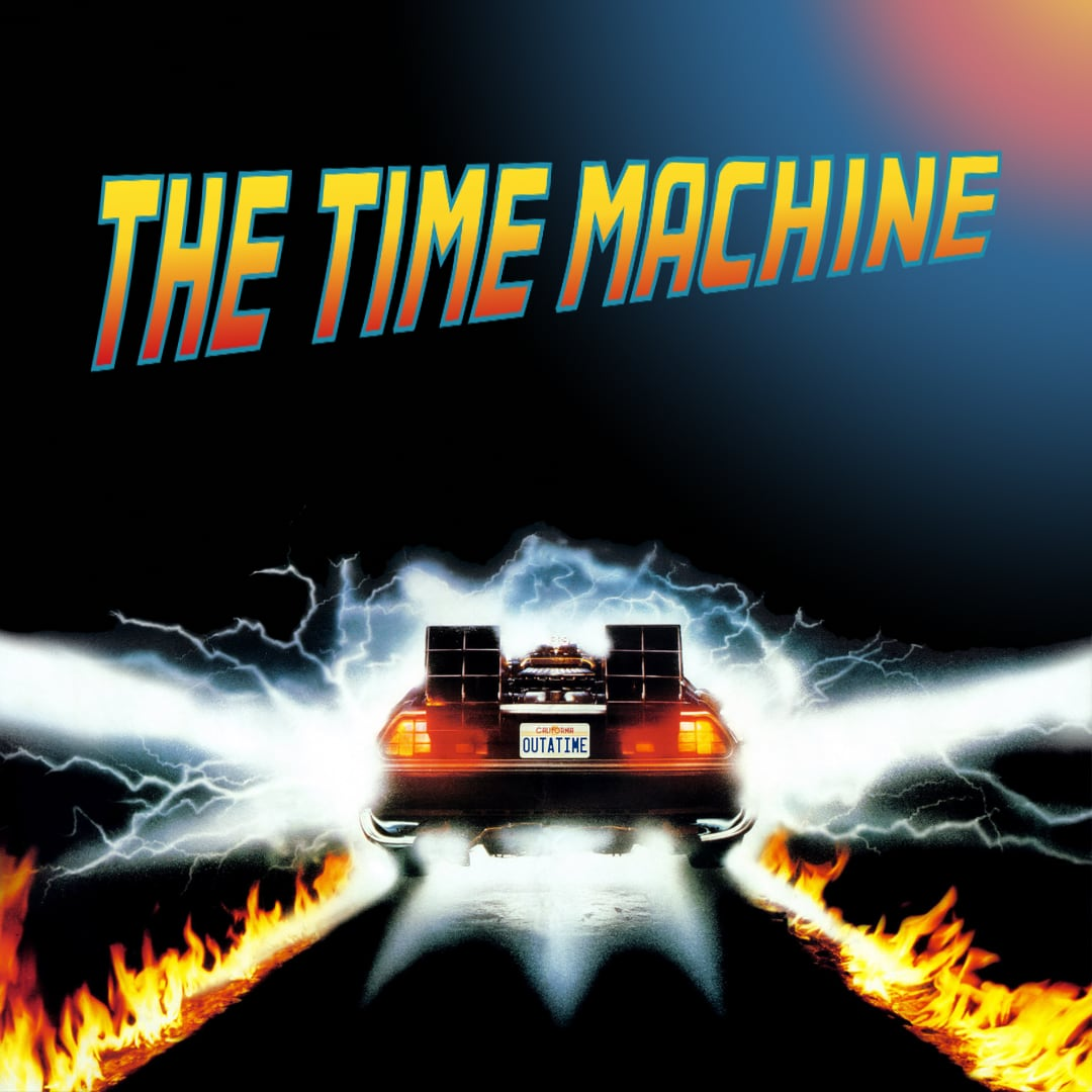 The Time Machine  logo.