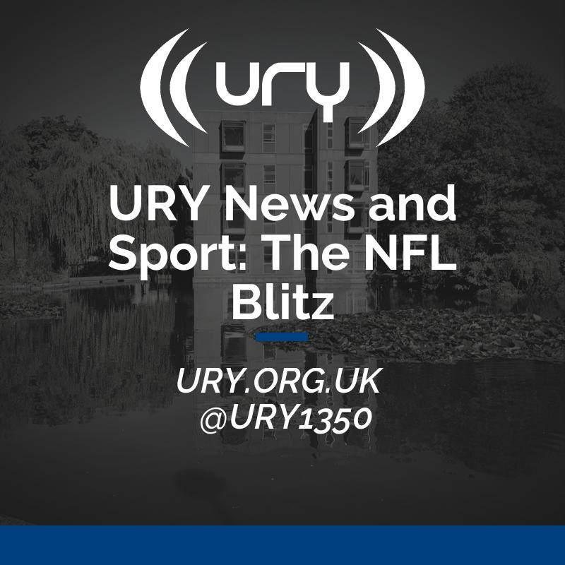 URY News and Sport: The NFL Blitz logo.