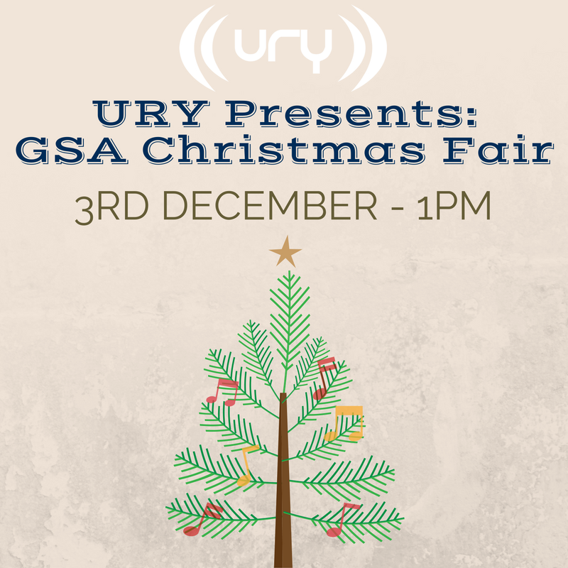 URY Presents: GSA Christmas Fair logo.