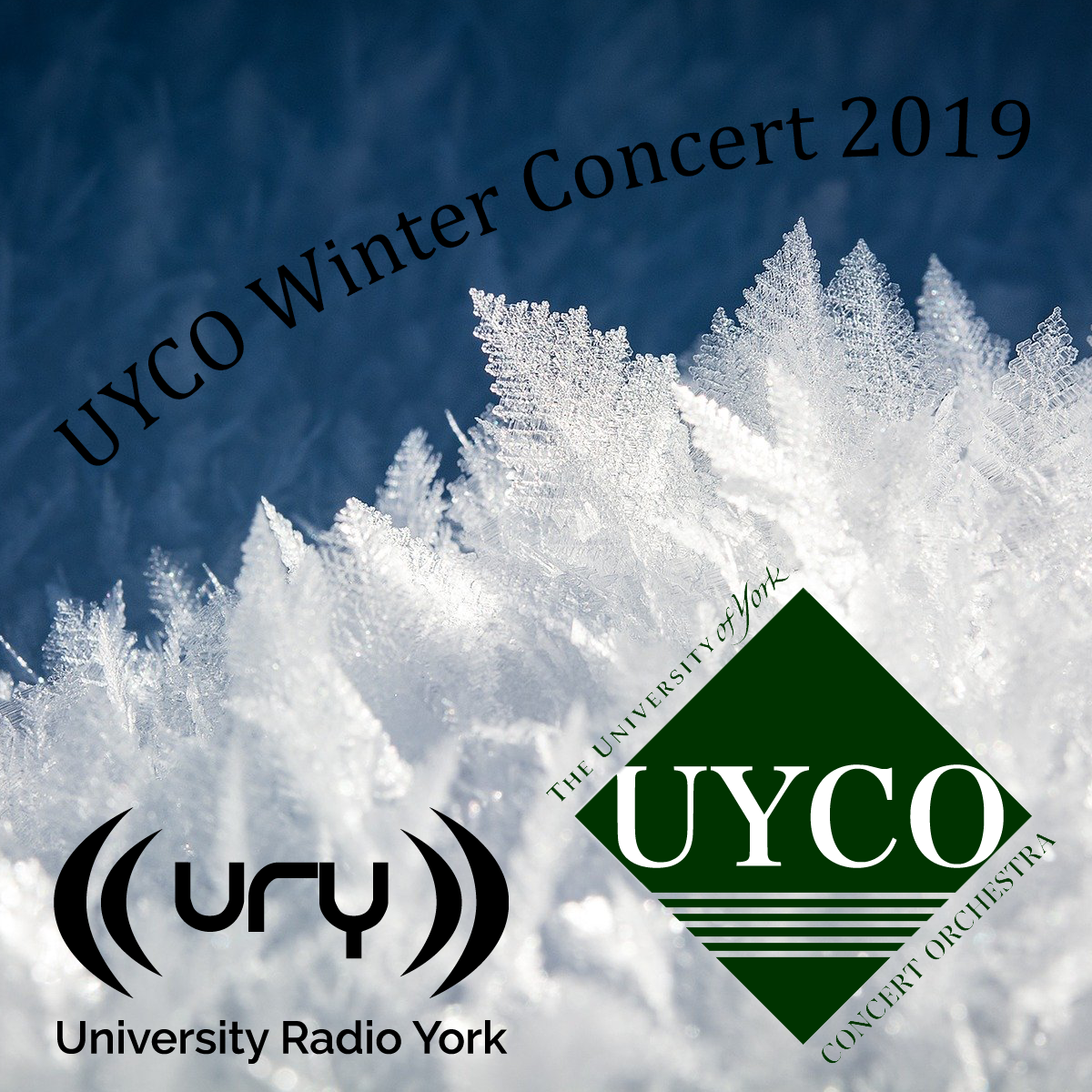 URY Presents: UYCO Winter Concert 2019 logo.