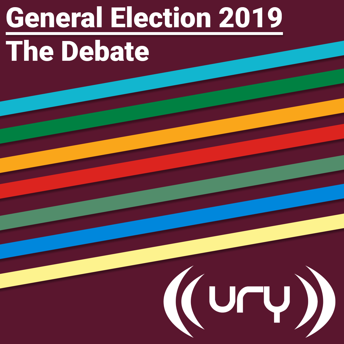 URY N&S: General Election 2019 - The Debate logo.