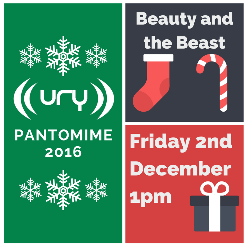 The URY Pantomime 2016: Beauty and the Beast logo.
