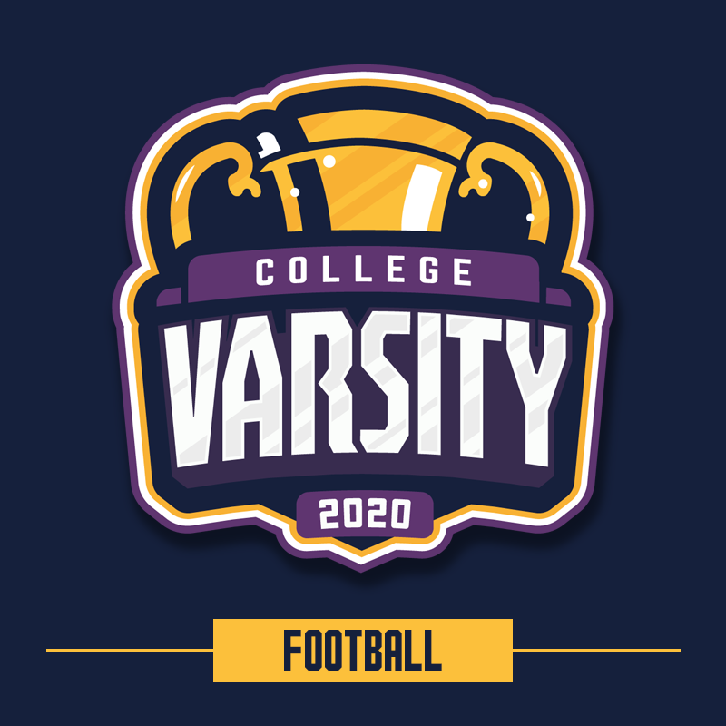 College Varsity 2020: Football logo.