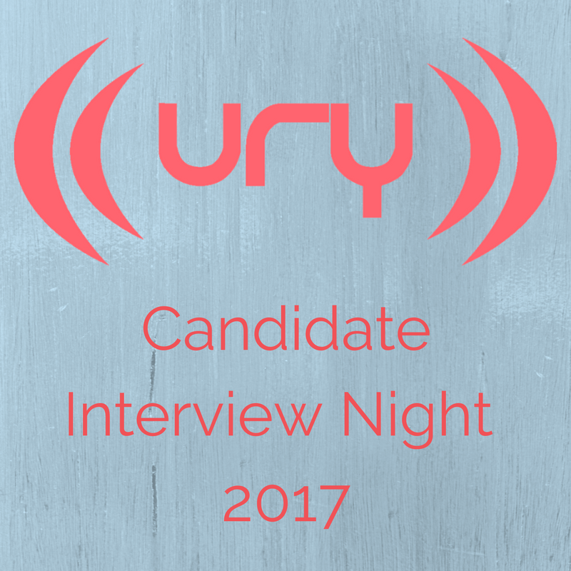 YUSU Elections 2017: Candidate Interview Night logo.