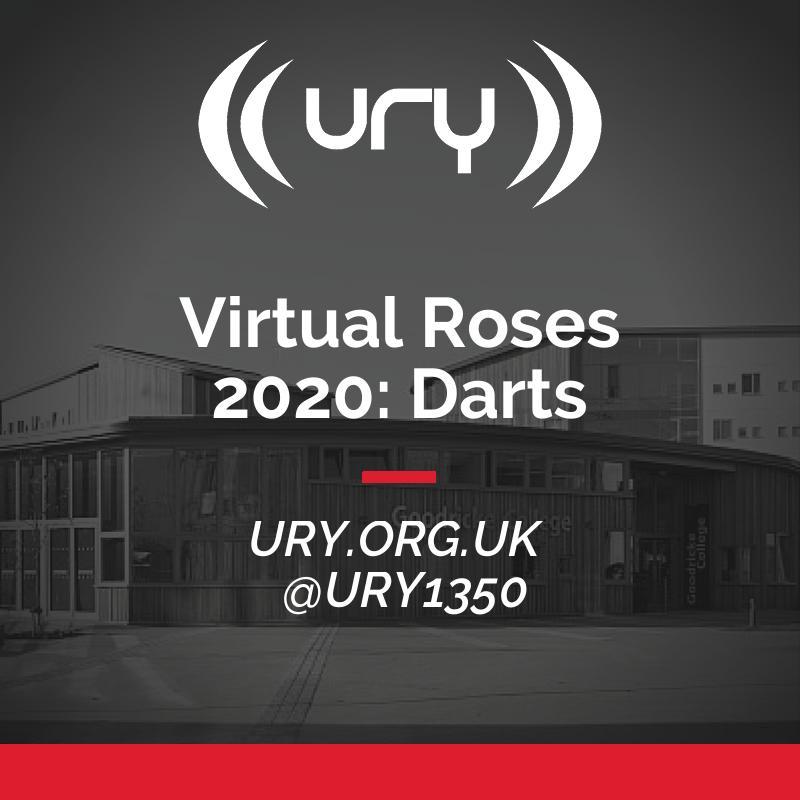 Virtual Roses 2020: Darts logo.