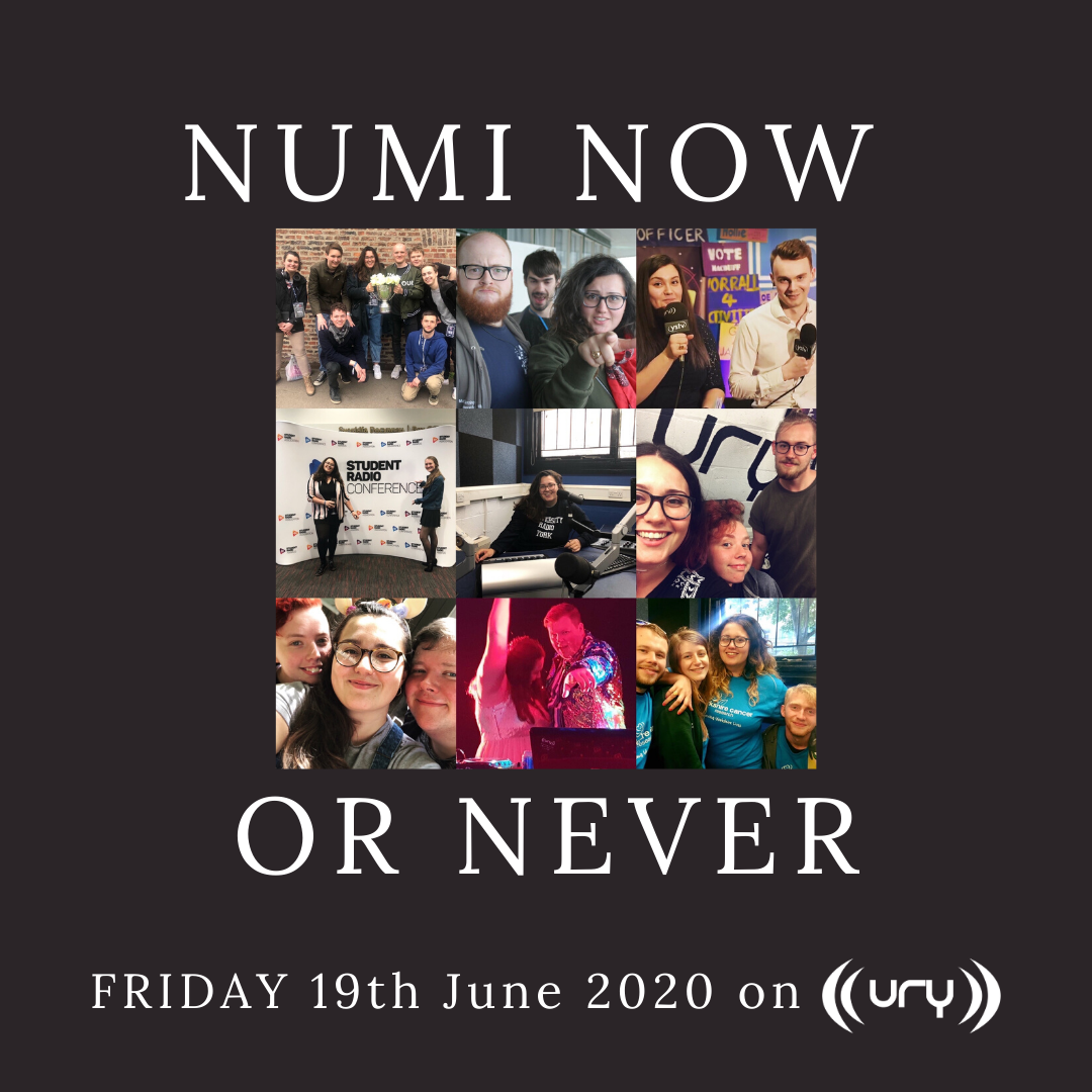Numi Now or Never logo.