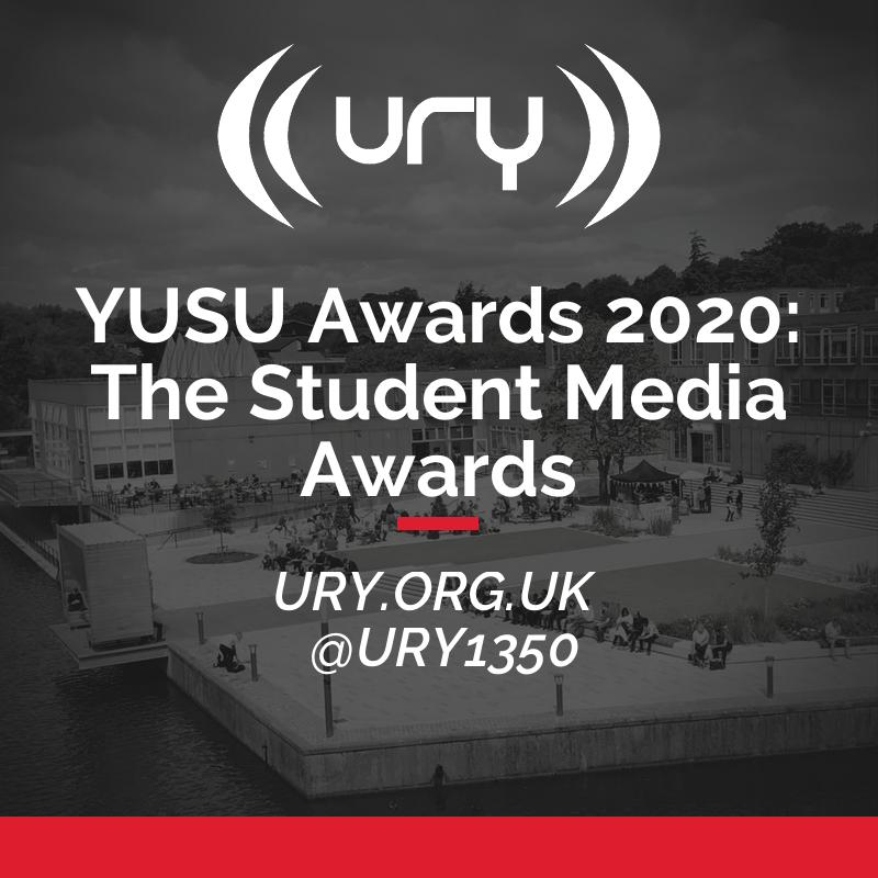 YUSU Awards 2020: The Student Media Awards logo.