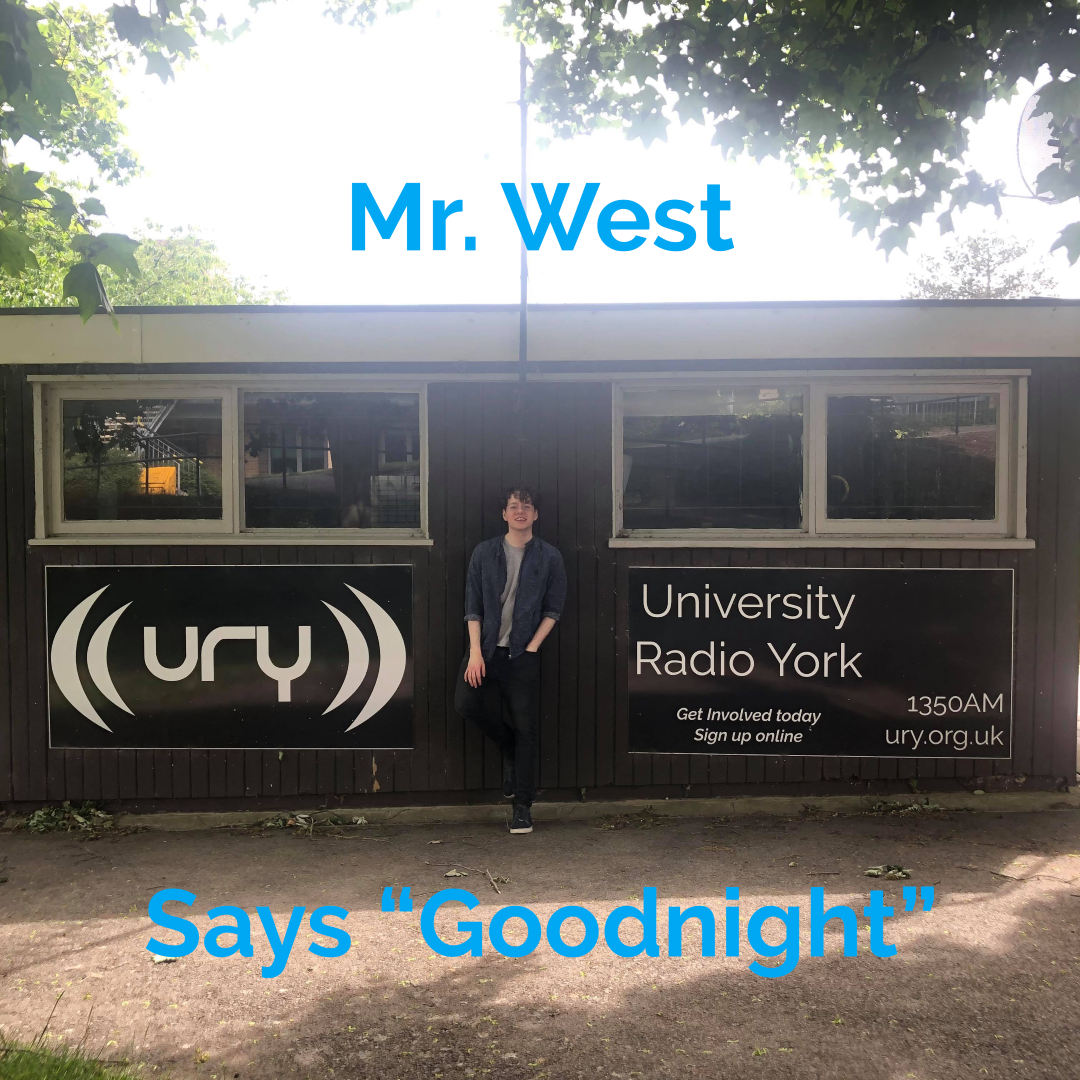 "Mr. West Says ""Goodnight"" logo."