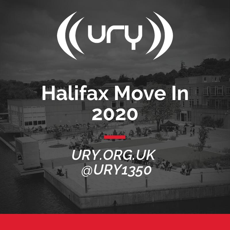 URY Welcome Week 2020: Halifax College Move In logo.