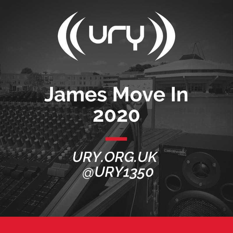 URY Welcome Week 2020: James College Move In logo.