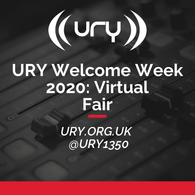 URY Welcome Week 2020: Virtual Fair logo.