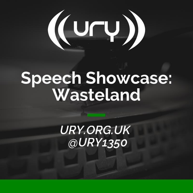 Speech Showcase: Wasteland logo.