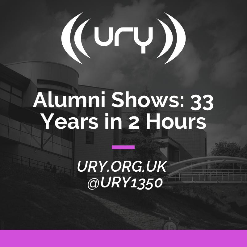 Alumni Shows: 33 Years in 2 Hours logo.