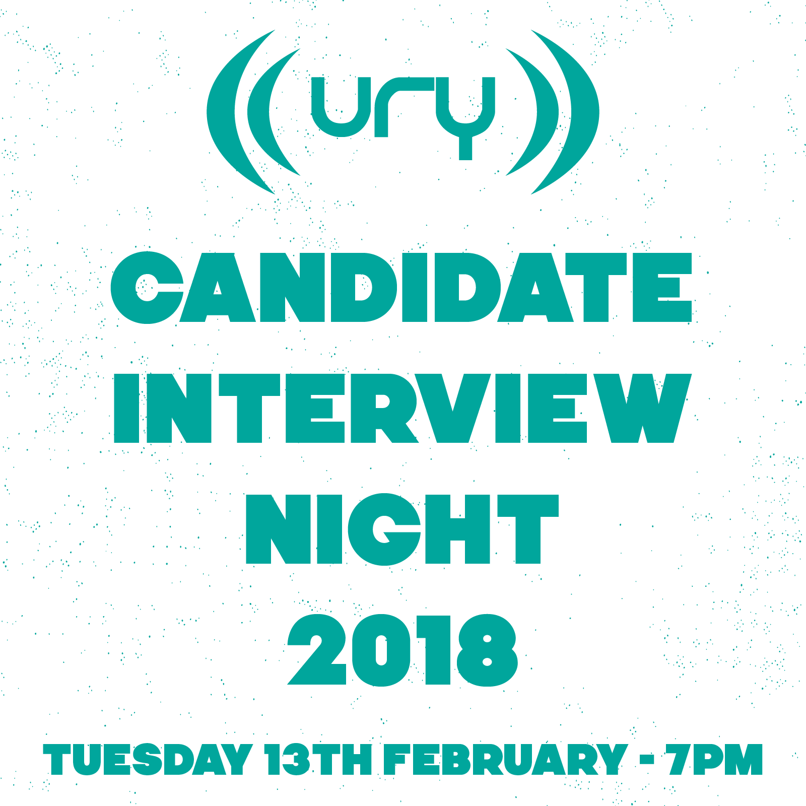 YUSU Elections 2018: Candidate Interview Night logo.