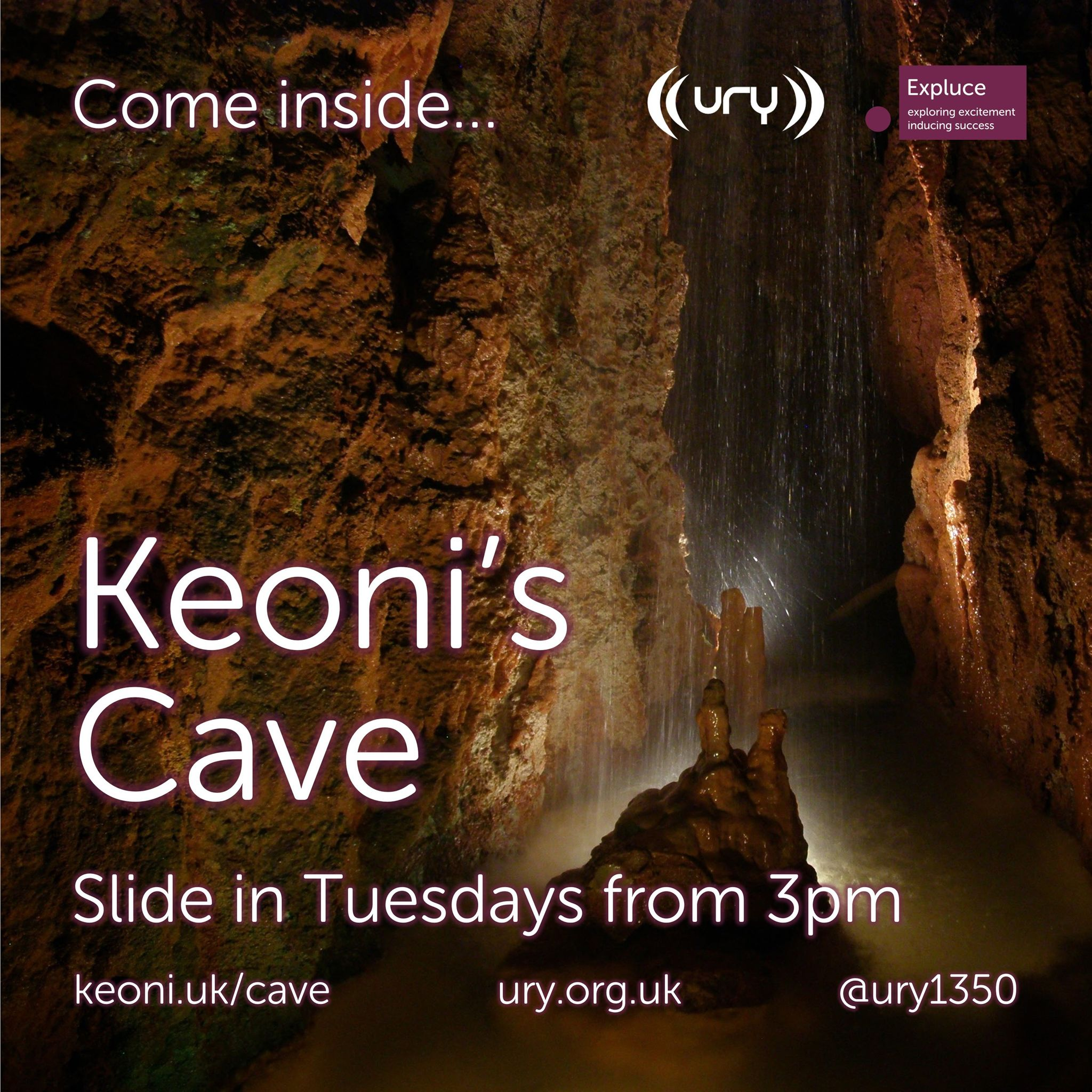 Keoni's Cave logo.