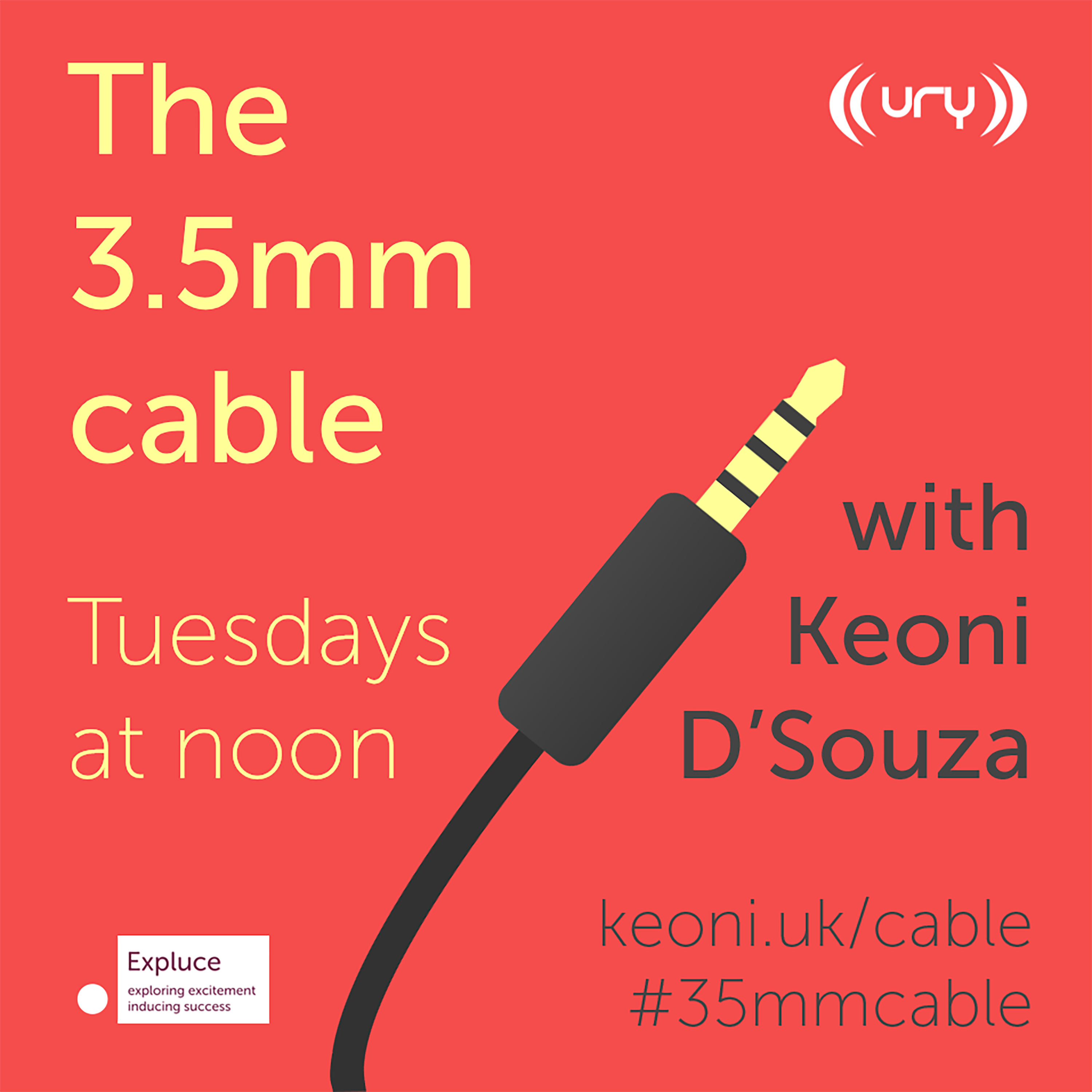 The 3.5mm cable logo.
