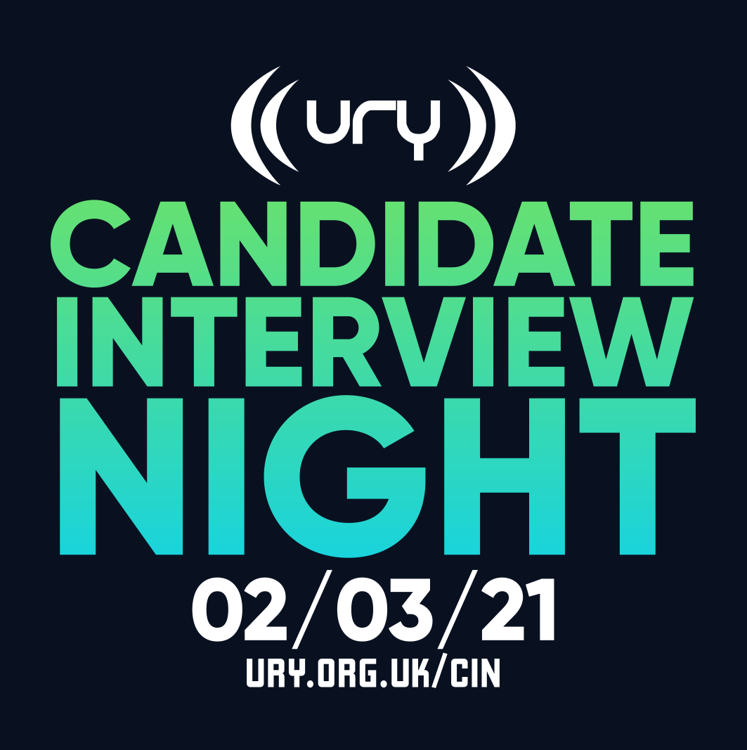 YUSU Elections 2021: Candidate Interview Night logo.