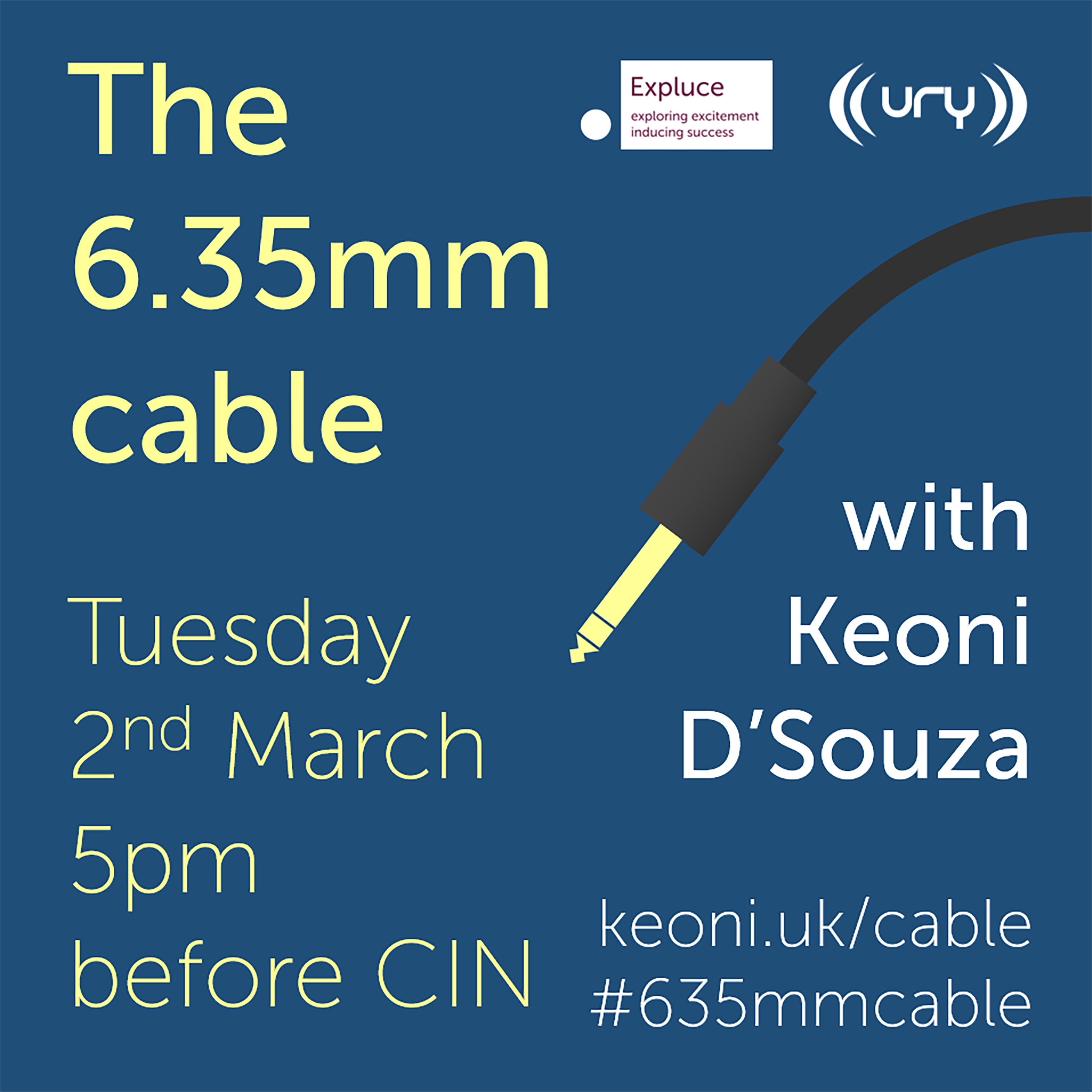 The 6.35mm cable logo.
