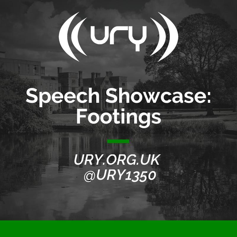 Speech Showcase: Footings logo.