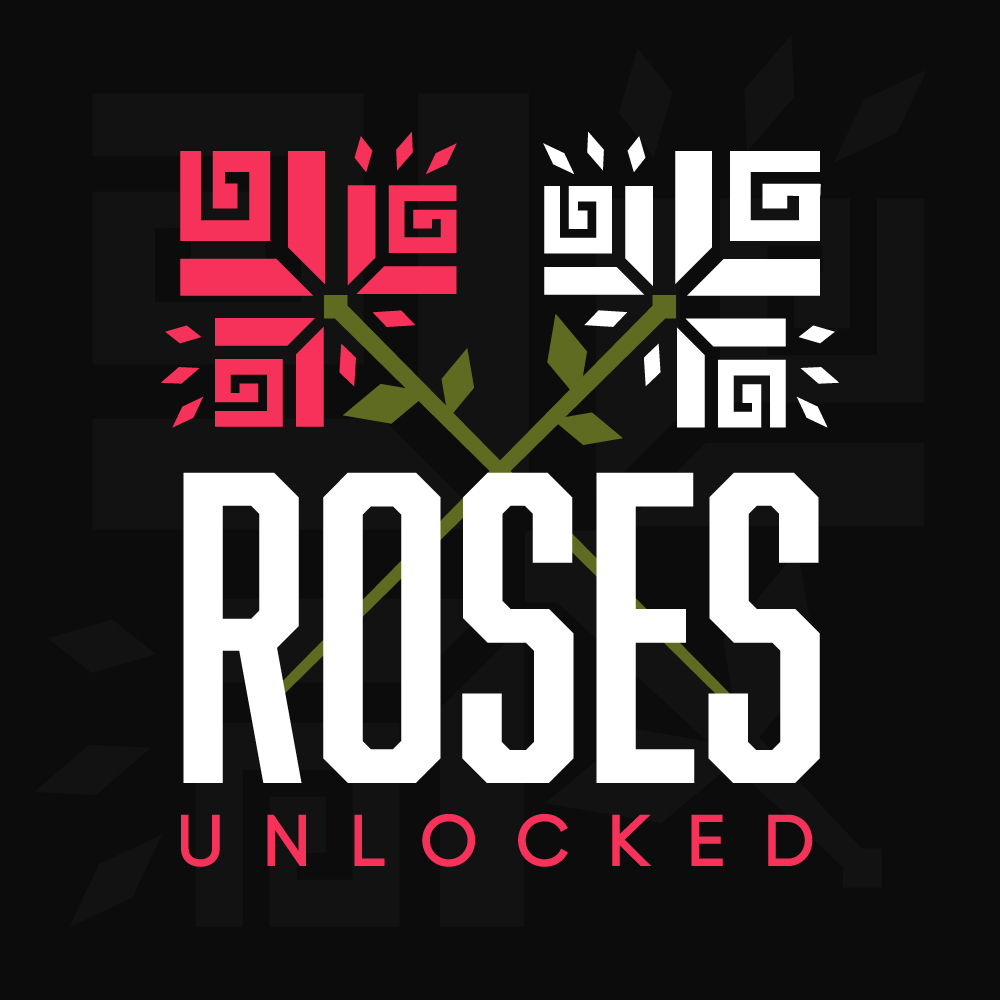 URY Presents: Roses Unlocked 2021 logo.
