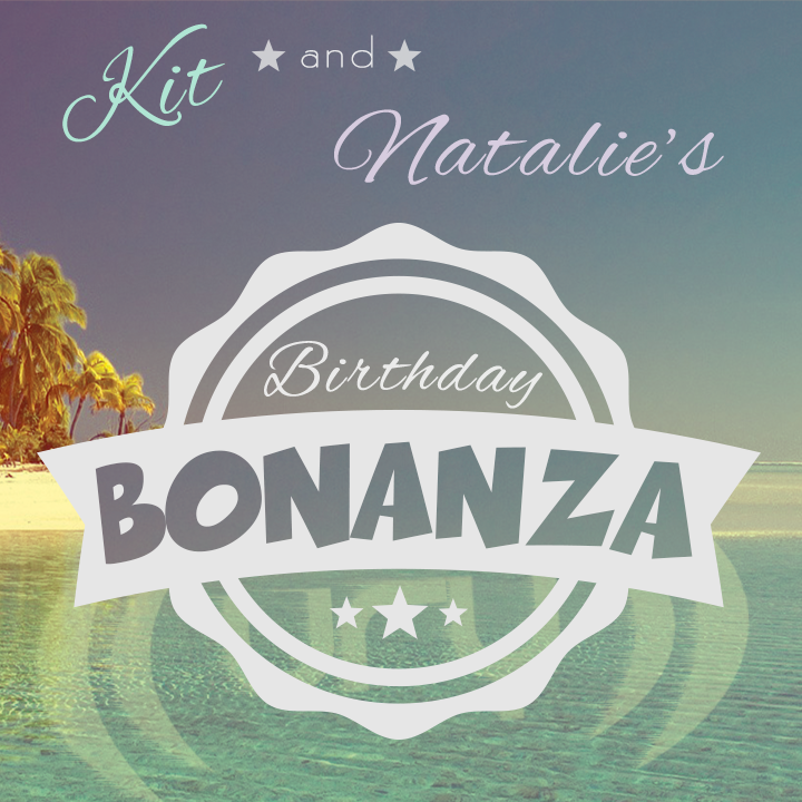 Kit and Natalie's Birthday Bonanza logo.