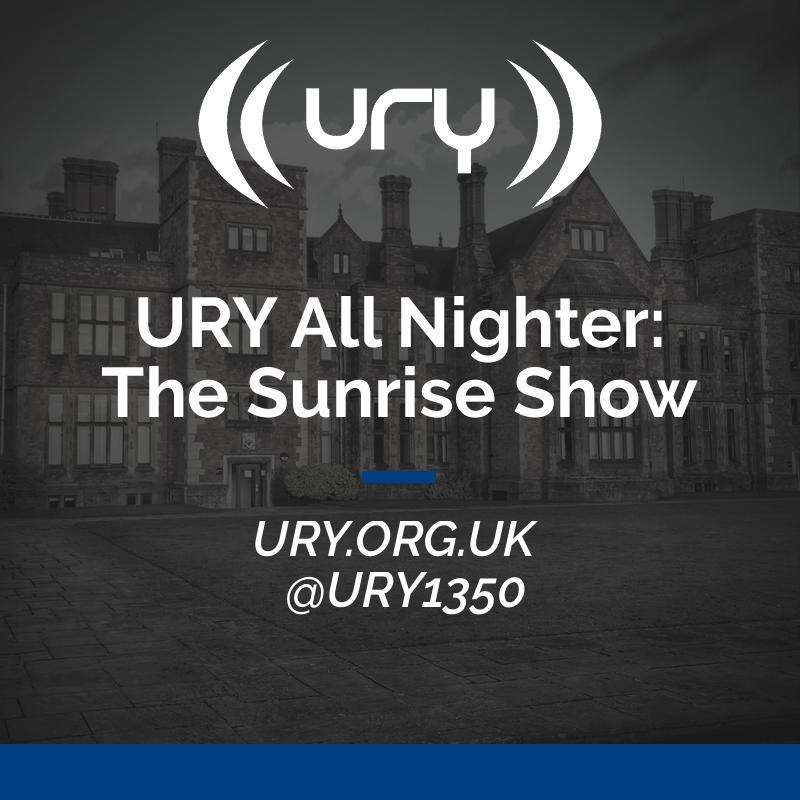 URY All Nighter: The Sunrise Show logo.