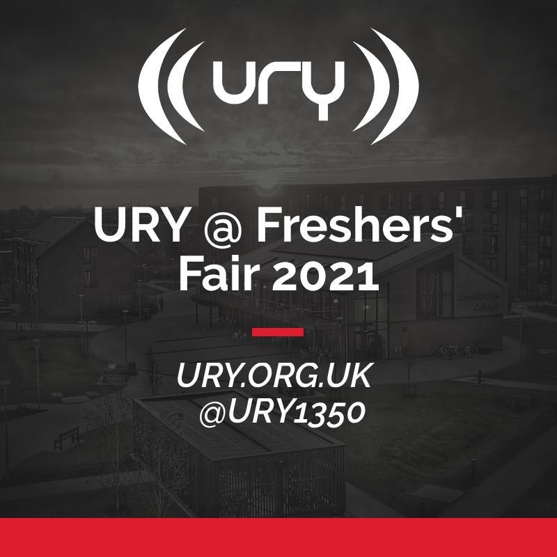 URY @ Freshers' Fair 2021 logo.