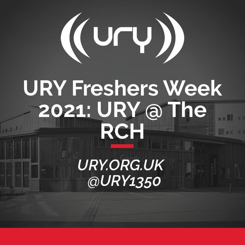 URY Freshers Week 2021: URY @ The RCH logo.