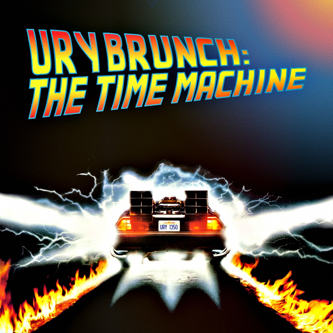 URY Brunch: The Time Machine  logo.